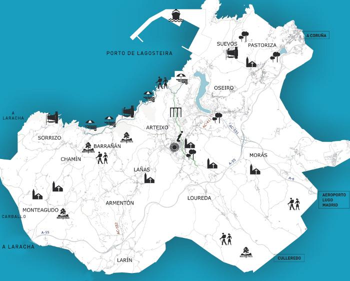 Mapa Concello de Arteixo